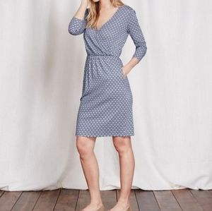Boden Cressida Day Blue & White Dress 16R